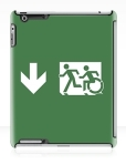 Accessible Exit Sign Project Wheelchair Wheelie Running Man Symbol Means of Egress Icon Disability Emergency Evacuation Fire Safety iPad Case 156