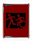 Accessible Exit Sign Project Wheelchair Wheelie Running Man Symbol Means of Egress Icon Disability Emergency Evacuation Fire Safety iPad Case 157