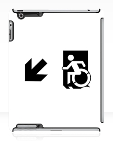 Accessible Exit Sign Project Wheelchair Wheelie Running Man Symbol Means of Egress Icon Disability Emergency Evacuation Fire Safety iPad Case 160