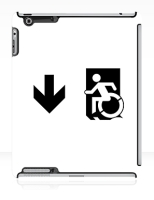 Accessible Exit Sign Project Wheelchair Wheelie Running Man Symbol Means of Egress Icon Disability Emergency Evacuation Fire Safety iPad Case 161