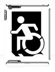 Accessible Exit Sign Project Wheelchair Wheelie Running Man Symbol Means of Egress Icon Disability Emergency Evacuation Fire Safety iPad Case 162