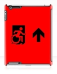 Accessible Exit Sign Project Wheelchair Wheelie Running Man Symbol Means of Egress Icon Disability Emergency Evacuation Fire Safety iPad Case 163