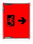 Accessible Exit Sign Project Wheelchair Wheelie Running Man Symbol Means of Egress Icon Disability Emergency Evacuation Fire Safety iPad Case 164