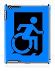 Accessible Exit Sign Project Wheelchair Wheelie Running Man Symbol Means of Egress Icon Disability Emergency Evacuation Fire Safety iPad Case 1