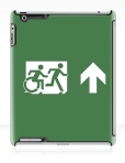 Accessible Exit Sign Project Wheelchair Wheelie Running Man Symbol Means of Egress Icon Disability Emergency Evacuation Fire Safety iPad Case 18