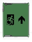 Accessible Exit Sign Project Wheelchair Wheelie Running Man Symbol Means of Egress Icon Disability Emergency Evacuation Fire Safety iPad Case 19