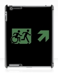 Accessible Exit Sign Project Wheelchair Wheelie Running Man Symbol Means of Egress Icon Disability Emergency Evacuation Fire Safety iPad Case 2