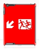 Accessible Exit Sign Project Wheelchair Wheelie Running Man Symbol Means of Egress Icon Disability Emergency Evacuation Fire Safety iPad Case 23