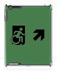 Accessible Exit Sign Project Wheelchair Wheelie Running Man Symbol Means of Egress Icon Disability Emergency Evacuation Fire Safety iPad Case 25