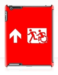 Accessible Exit Sign Project Wheelchair Wheelie Running Man Symbol Means of Egress Icon Disability Emergency Evacuation Fire Safety iPad Case 26