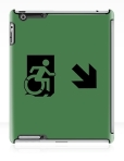Accessible Exit Sign Project Wheelchair Wheelie Running Man Symbol Means of Egress Icon Disability Emergency Evacuation Fire Safety iPad Case 27