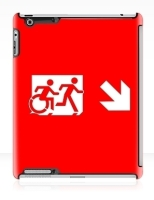 Accessible Exit Sign Project Wheelchair Wheelie Running Man Symbol Means of Egress Icon Disability Emergency Evacuation Fire Safety iPad Case 29