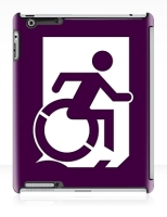 Accessible Exit Sign Project Wheelchair Wheelie Running Man Symbol Means of Egress Icon Disability Emergency Evacuation Fire Safety iPad Case 30