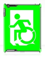 Accessible Exit Sign Project Wheelchair Wheelie Running Man Symbol Means of Egress Icon Disability Emergency Evacuation Fire Safety iPad Case 3