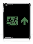 Accessible Exit Sign Project Wheelchair Wheelie Running Man Symbol Means of Egress Icon Disability Emergency Evacuation Fire Safety iPad Case 32