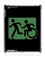 Accessible Exit Sign Project Wheelchair Wheelie Running Man Symbol Means of Egress Icon Disability Emergency Evacuation Fire Safety iPad Case 33