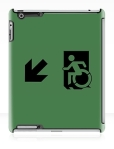 Accessible Exit Sign Project Wheelchair Wheelie Running Man Symbol Means of Egress Icon Disability Emergency Evacuation Fire Safety iPad Case 34