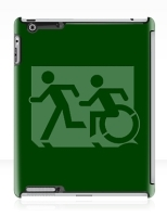 Accessible Exit Sign Project Wheelchair Wheelie Running Man Symbol Means of Egress Icon Disability Emergency Evacuation Fire Safety iPad Case 37