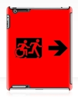 Accessible Exit Sign Project Wheelchair Wheelie Running Man Symbol Means of Egress Icon Disability Emergency Evacuation Fire Safety iPad Case 38