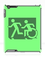 Accessible Exit Sign Project Wheelchair Wheelie Running Man Symbol Means of Egress Icon Disability Emergency Evacuation Fire Safety iPad Case 39