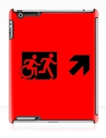 Accessible Exit Sign Project Wheelchair Wheelie Running Man Symbol Means of Egress Icon Disability Emergency Evacuation Fire Safety iPad Case 40