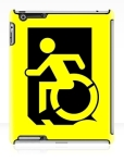 Accessible Exit Sign Project Wheelchair Wheelie Running Man Symbol Means of Egress Icon Disability Emergency Evacuation Fire Safety iPad Case 4