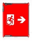 Accessible Exit Sign Project Wheelchair Wheelie Running Man Symbol Means of Egress Icon Disability Emergency Evacuation Fire Safety iPad Case 42