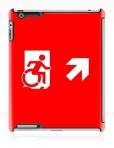 Accessible Exit Sign Project Wheelchair Wheelie Running Man Symbol Means of Egress Icon Disability Emergency Evacuation Fire Safety iPad Case 44