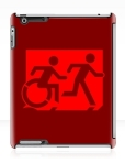 Accessible Exit Sign Project Wheelchair Wheelie Running Man Symbol Means of Egress Icon Disability Emergency Evacuation Fire Safety iPad Case 45