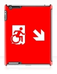 Accessible Exit Sign Project Wheelchair Wheelie Running Man Symbol Means of Egress Icon Disability Emergency Evacuation Fire Safety iPad Case 46