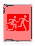 Accessible Exit Sign Project Wheelchair Wheelie Running Man Symbol Means of Egress Icon Disability Emergency Evacuation Fire Safety iPad Case 47