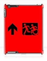 Accessible Exit Sign Project Wheelchair Wheelie Running Man Symbol Means of Egress Icon Disability Emergency Evacuation Fire Safety iPad Case 48