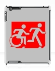 Accessible Exit Sign Project Wheelchair Wheelie Running Man Symbol Means of Egress Icon Disability Emergency Evacuation Fire Safety iPad Case 49