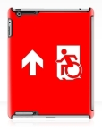 Accessible Exit Sign Project Wheelchair Wheelie Running Man Symbol Means of Egress Icon Disability Emergency Evacuation Fire Safety iPad Case 50