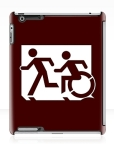 Accessible Exit Sign Project Wheelchair Wheelie Running Man Symbol Means of Egress Icon Disability Emergency Evacuation Fire Safety iPad Case 51