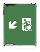 Accessible Exit Sign Project Wheelchair Wheelie Running Man Symbol Means of Egress Icon Disability Emergency Evacuation Fire Safety iPad Case 5