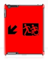 Accessible Exit Sign Project Wheelchair Wheelie Running Man Symbol Means of Egress Icon Disability Emergency Evacuation Fire Safety iPad Case 54