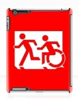 Accessible Exit Sign Project Wheelchair Wheelie Running Man Symbol Means of Egress Icon Disability Emergency Evacuation Fire Safety iPad Case 55
