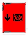 Accessible Exit Sign Project Wheelchair Wheelie Running Man Symbol Means of Egress Icon Disability Emergency Evacuation Fire Safety iPad Case 56