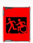 Accessible Exit Sign Project Wheelchair Wheelie Running Man Symbol Means of Egress Icon Disability Emergency Evacuation Fire Safety iPad Case 57