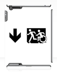 Accessible Exit Sign Project Wheelchair Wheelie Running Man Symbol Means of Egress Icon Disability Emergency Evacuation Fire Safety iPad Case 59