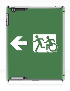 Accessible Exit Sign Project Wheelchair Wheelie Running Man Symbol Means of Egress Icon Disability Emergency Evacuation Fire Safety iPad Case 6