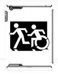 Accessible Exit Sign Project Wheelchair Wheelie Running Man Symbol Means of Egress Icon Disability Emergency Evacuation Fire Safety iPad Case 60