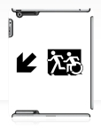 Accessible Exit Sign Project Wheelchair Wheelie Running Man Symbol Means of Egress Icon Disability Emergency Evacuation Fire Safety iPad Case 61