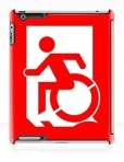 Accessible Exit Sign Project Wheelchair Wheelie Running Man Symbol Means of Egress Icon Disability Emergency Evacuation Fire Safety iPad Case 63