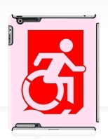 Accessible Exit Sign Project Wheelchair Wheelie Running Man Symbol Means of Egress Icon Disability Emergency Evacuation Fire Safety iPad Case 66