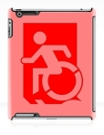 Accessible Exit Sign Project Wheelchair Wheelie Running Man Symbol Means of Egress Icon Disability Emergency Evacuation Fire Safety iPad Case 68