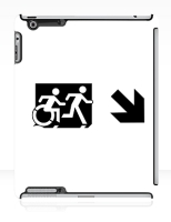 Accessible Exit Sign Project Wheelchair Wheelie Running Man Symbol Means of Egress Icon Disability Emergency Evacuation Fire Safety iPad Case 69