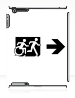 Accessible Exit Sign Project Wheelchair Wheelie Running Man Symbol Means of Egress Icon Disability Emergency Evacuation Fire Safety iPad Case 71