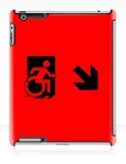 Accessible Exit Sign Project Wheelchair Wheelie Running Man Symbol Means of Egress Icon Disability Emergency Evacuation Fire Safety iPad Case 7